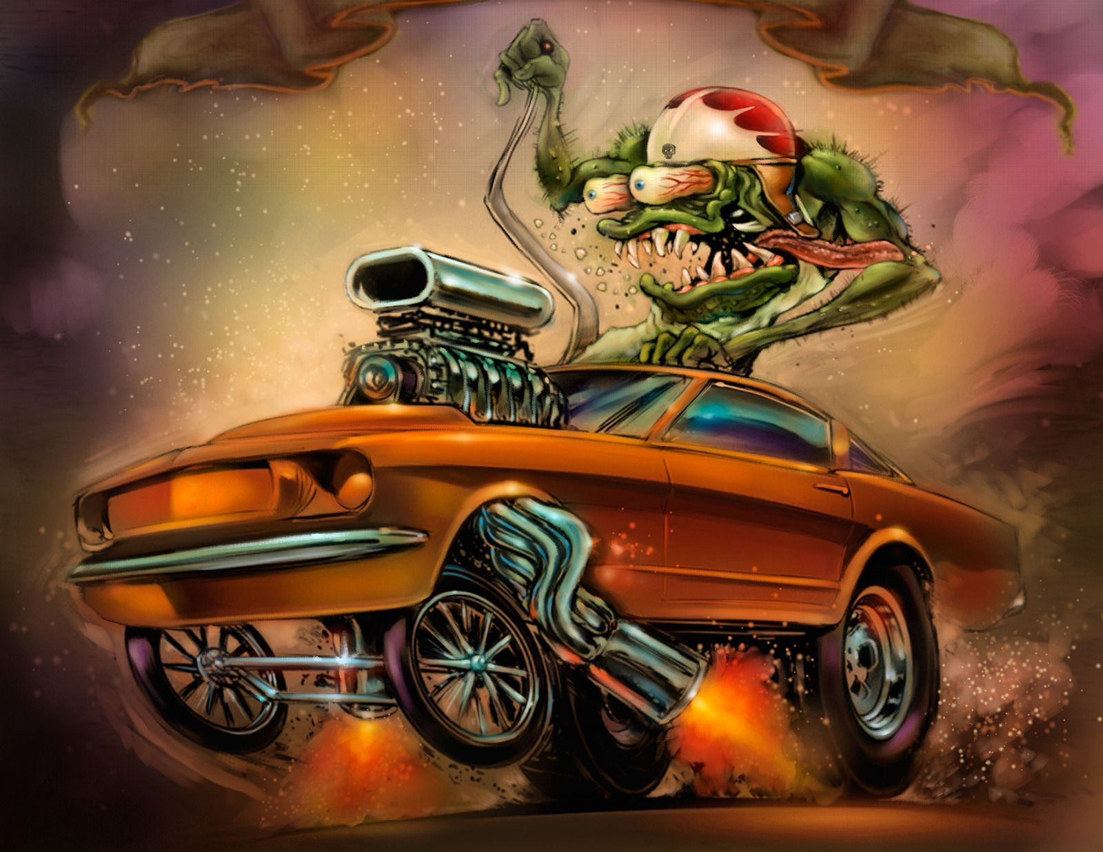Rat Fink Hot Rod Art | by and by kay fink robert b henderson and r m fink from with glass rod ...