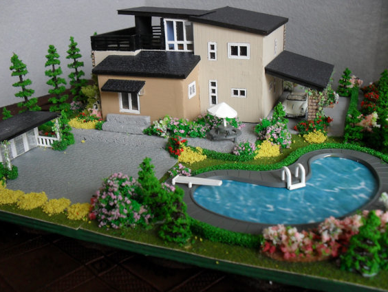 Modern Mini Houses Model Homes Miniature Houses Doll House