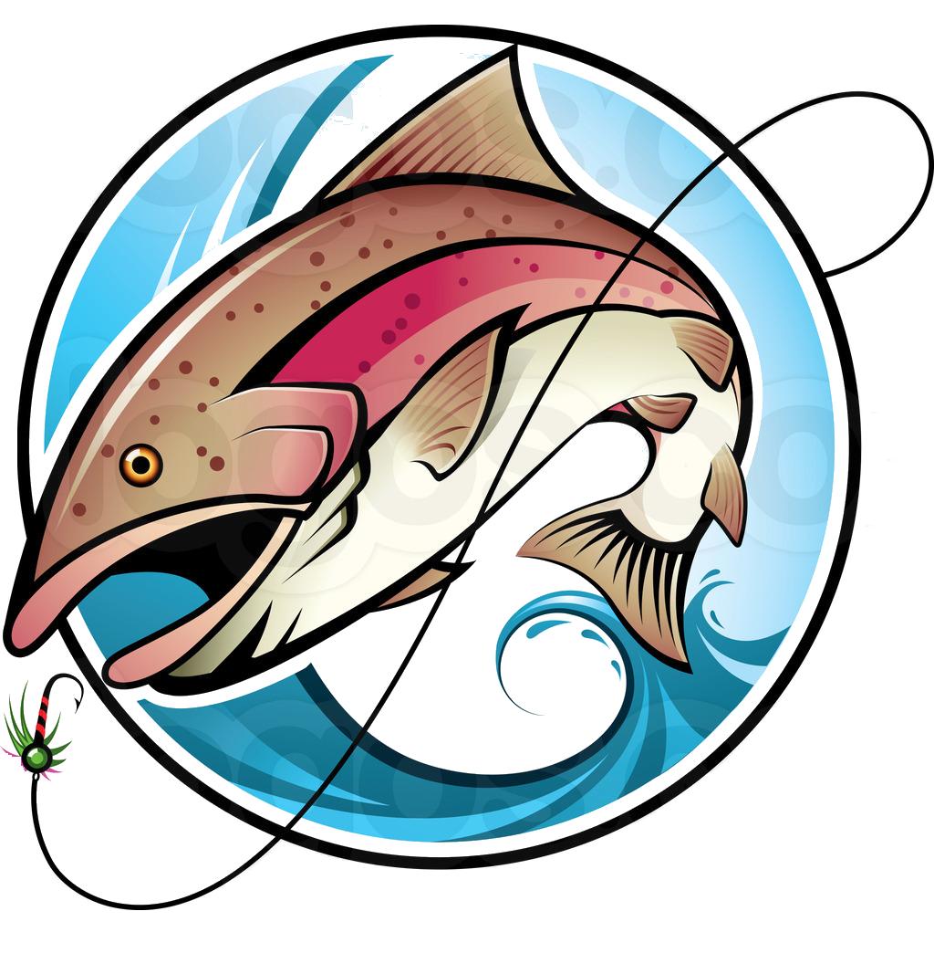 Fishing Logo1 Png 1024 1044 Vector Art Trout Art Art