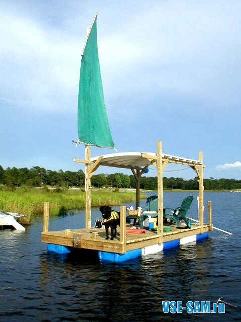 the completed russian swim raft things to do pontoon boat boat rh pinterest ca