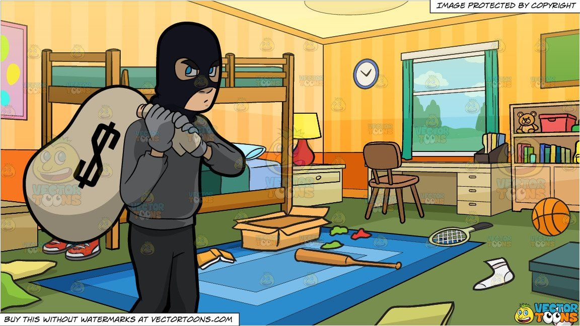 a robber taking a big sack of money and messy kids bedroom rh pinterest com