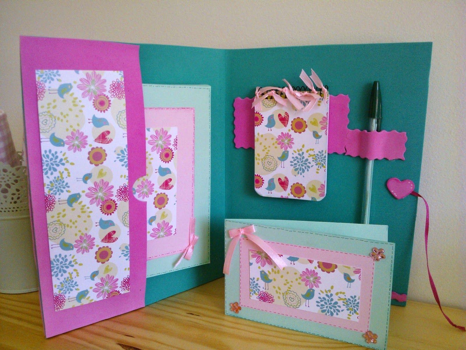 Portadocumentos en goma eva y papel decorado - Papel decorado manualidades ...