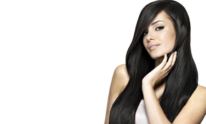 Janette at wicked pixie salon hair studio phoenix deal of the jet black 24 inch full head set clip in hair extensions quality real human hair extensions from clip hair ltd pmusecretfo Images