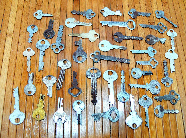 Old key collection-antique key lot-old key lot-vintage flat key ...