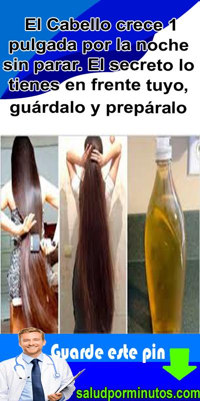 como hacer que crezca el pelo en una noche