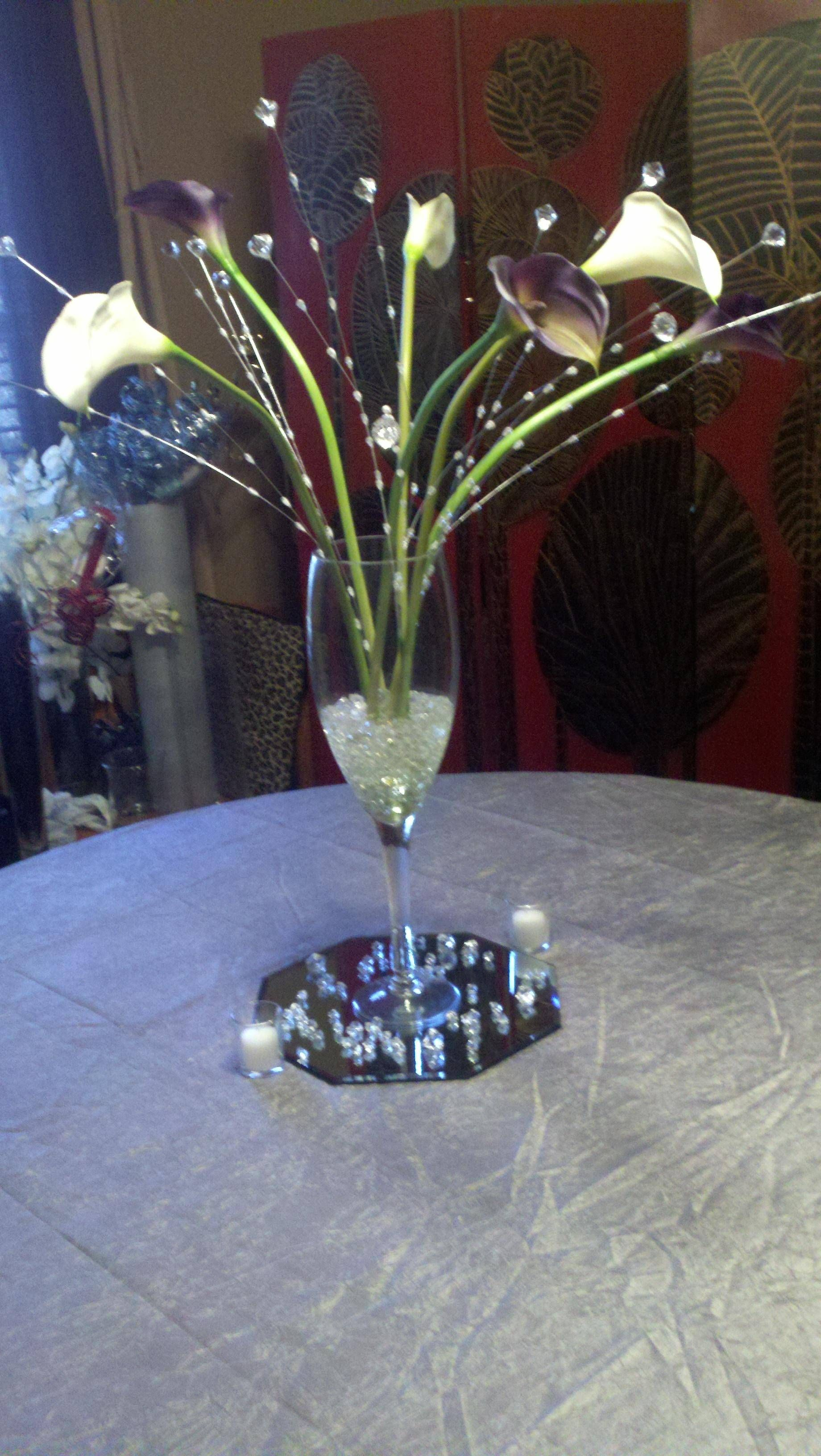Calla crystal centerpiece uploaded with pinterest