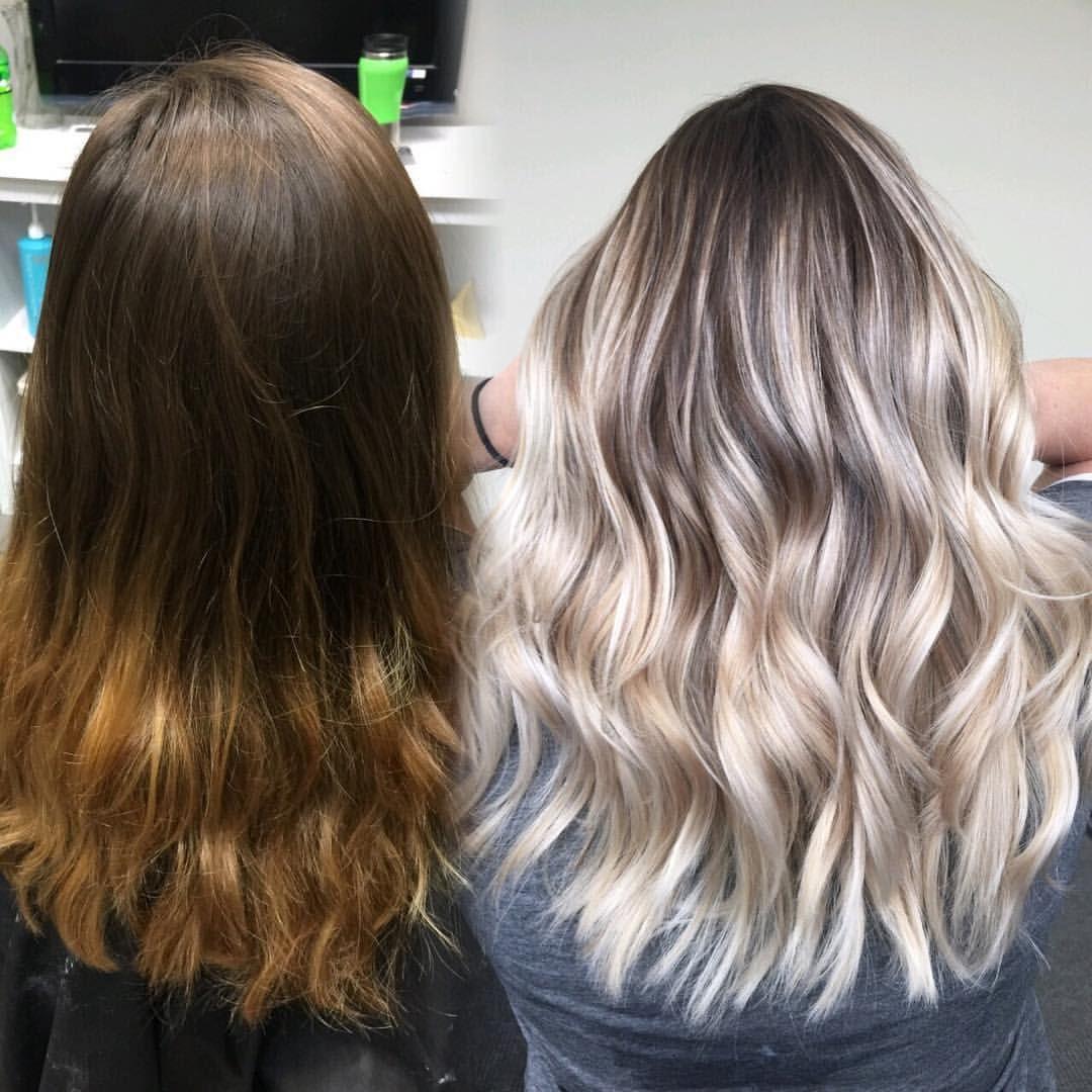 Balayage Before And After Blonde Highlights Michigan Balayage