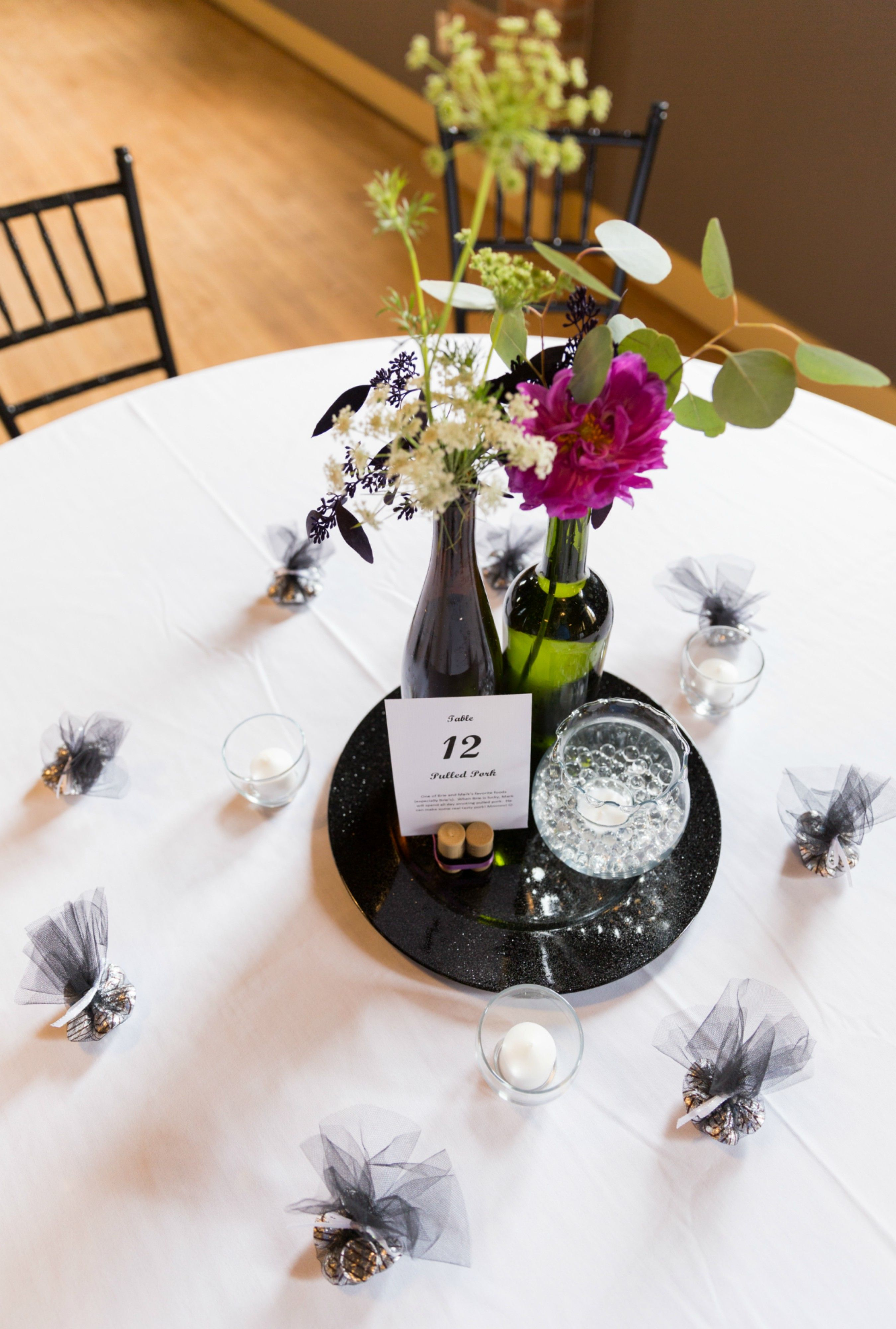 wedding centerpieces fake flowers%0A Easy  Elegant  Rustic Wine Bottle Centerpiece for Weddings  save money by  providing your