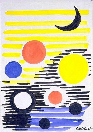 Circle And Moon In 2019 Alexander Calder Artwork Artist