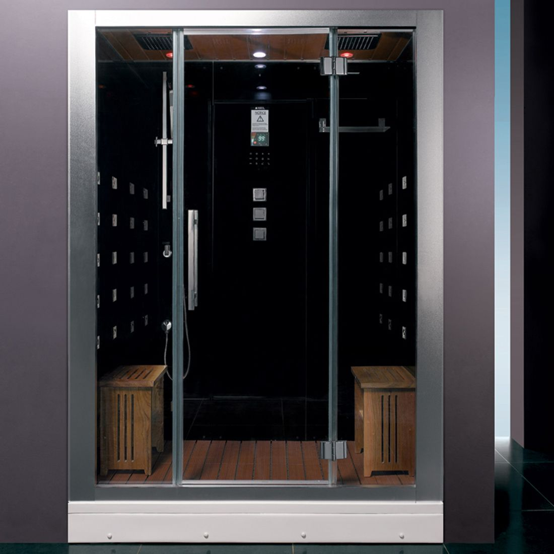 Ariel Platinum Dz972f8 Steam Shower Dz972 1f8 Blk Elite Fixtures