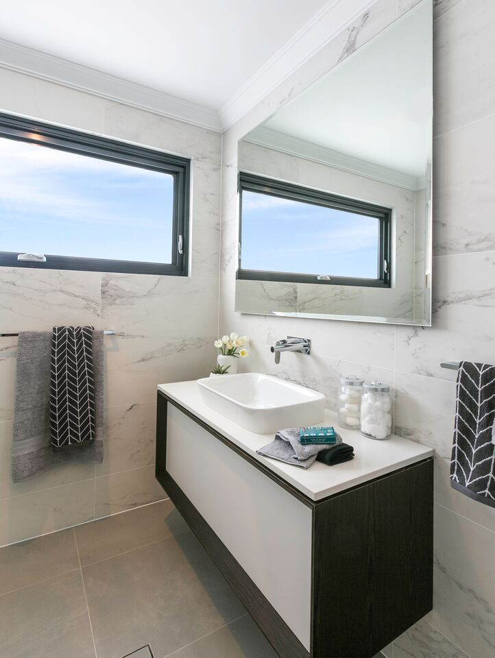 new bathroom images%0A Careful window placement in bathrooms  like placing windows high in the  wall is an effective