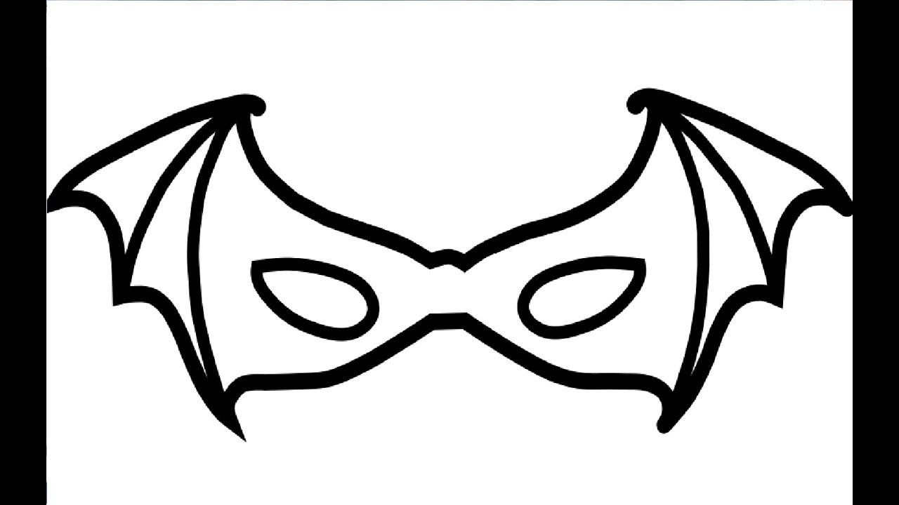 Coloring Book Batman Masks For Child To Learn Drawing And ...