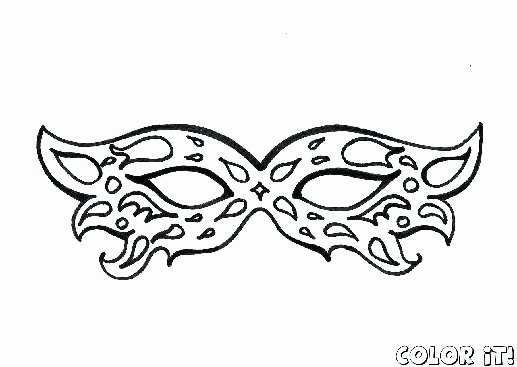 Mardi Gras Masks Coloring Best Of Carnival Mask Coloring Page