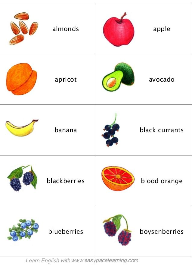 Learning Fruit Berries And Vegetables English Lesson By Easy Pace