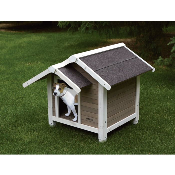 Precision Pet Products Outback Twin Peaks Dog House Backyard