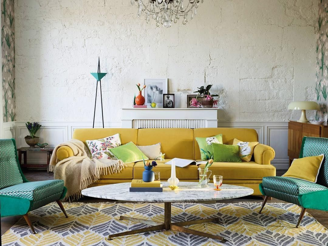 A colourful living room New Floral