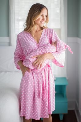Nicole Delivery Robe & Swaddle Blanket Set #babyboyblankets