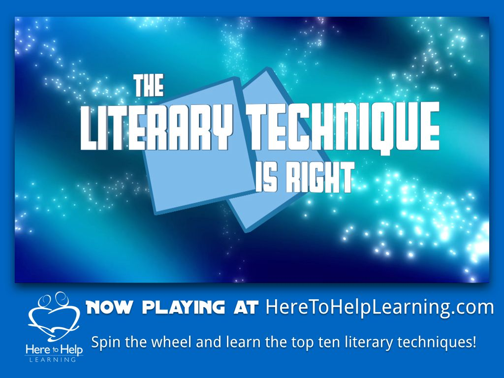 Spin the wheel to learn the top ten literary techniques