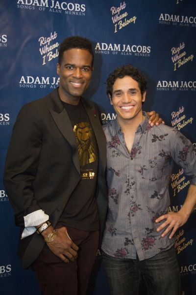 Derrick Davis (my new favorite Phantom) and Adam Jacobs (original Broadway Aladdin)