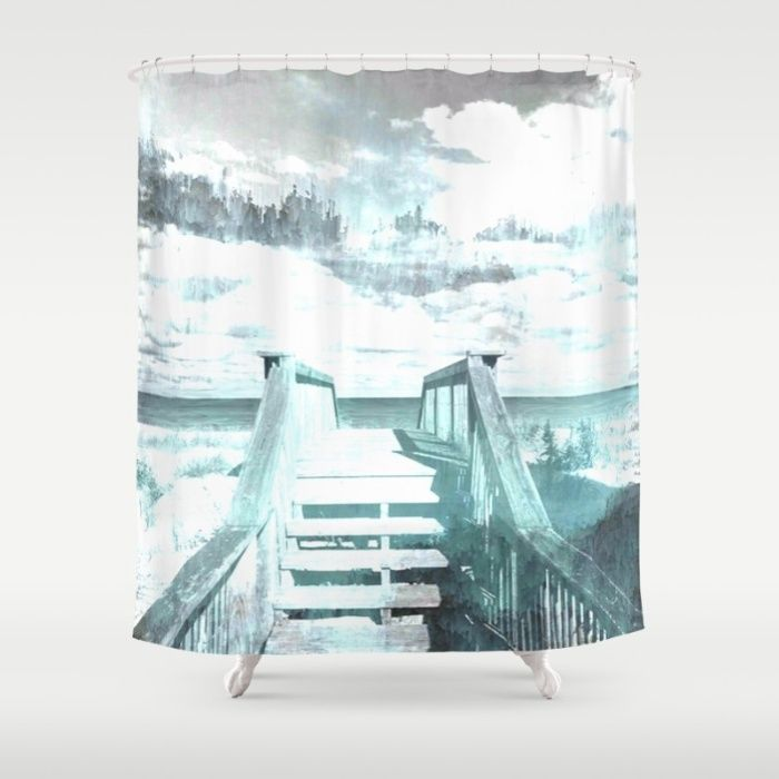 What Lies Beyond Abstract Seascape Shower Curtain Ocean Sea