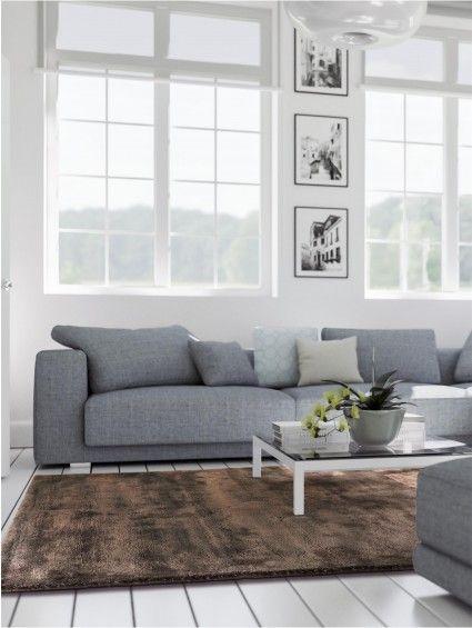 Teppich Donna Viscose Braun Wohnen Pinterest - Teppich Wohnzimmer Braun