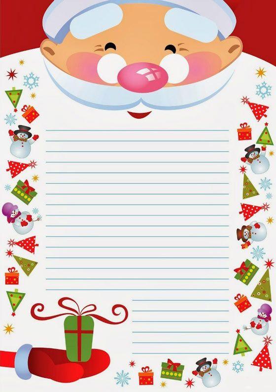 Шаблон письмо деду морозу скачать бесплатно