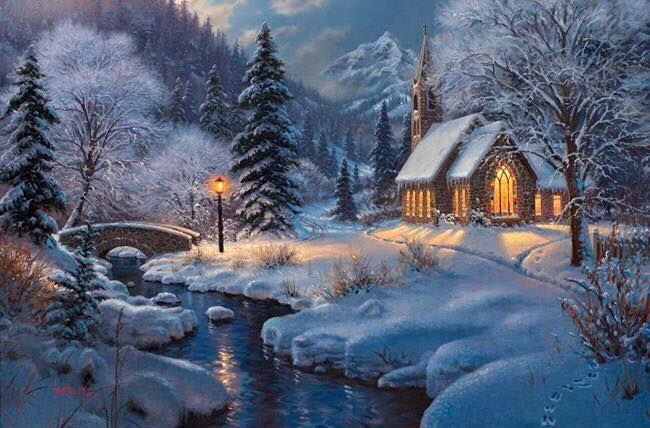 nostalgie weihnachtslandschaft winterbilder und winter. Black Bedroom Furniture Sets. Home Design Ideas