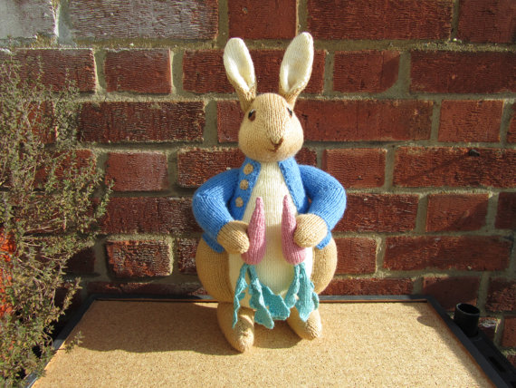 Hand Knitted Toy Beatrix Potter Peter Rabbit From Alan Dart Pattern