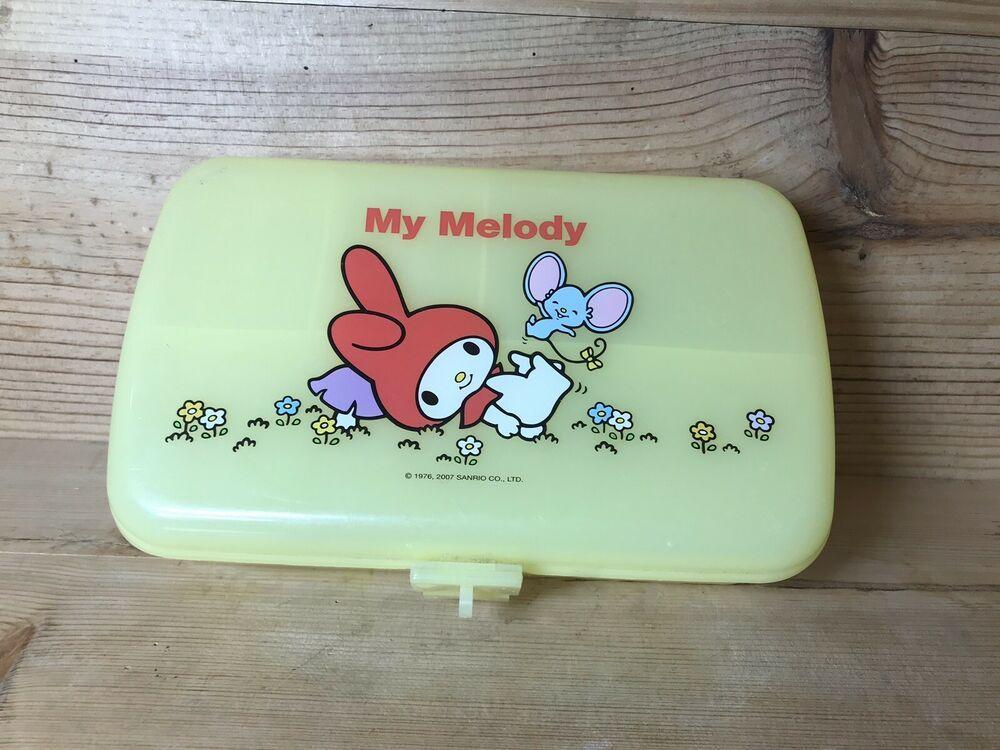 My Melody Pencil Case Box 2007 Sanrio Yellow Kawaii