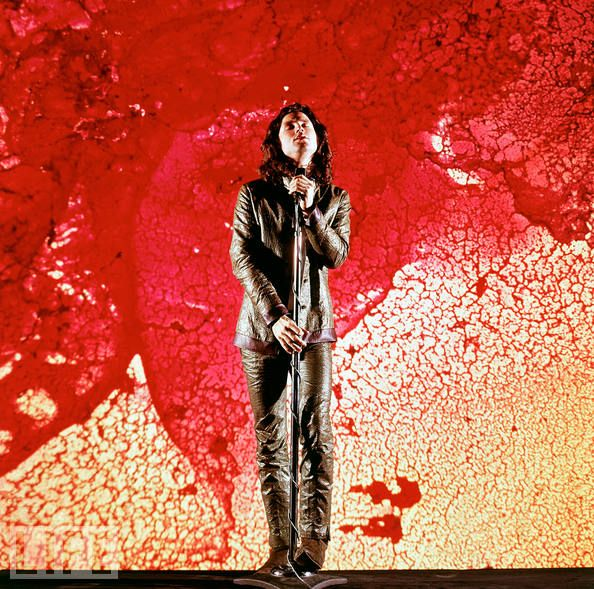 Jim Morrison of The Doors, 1968.  I love the Doors! And Jim Morrison was hot before he got fat, let his facial hair go and was all strung out.