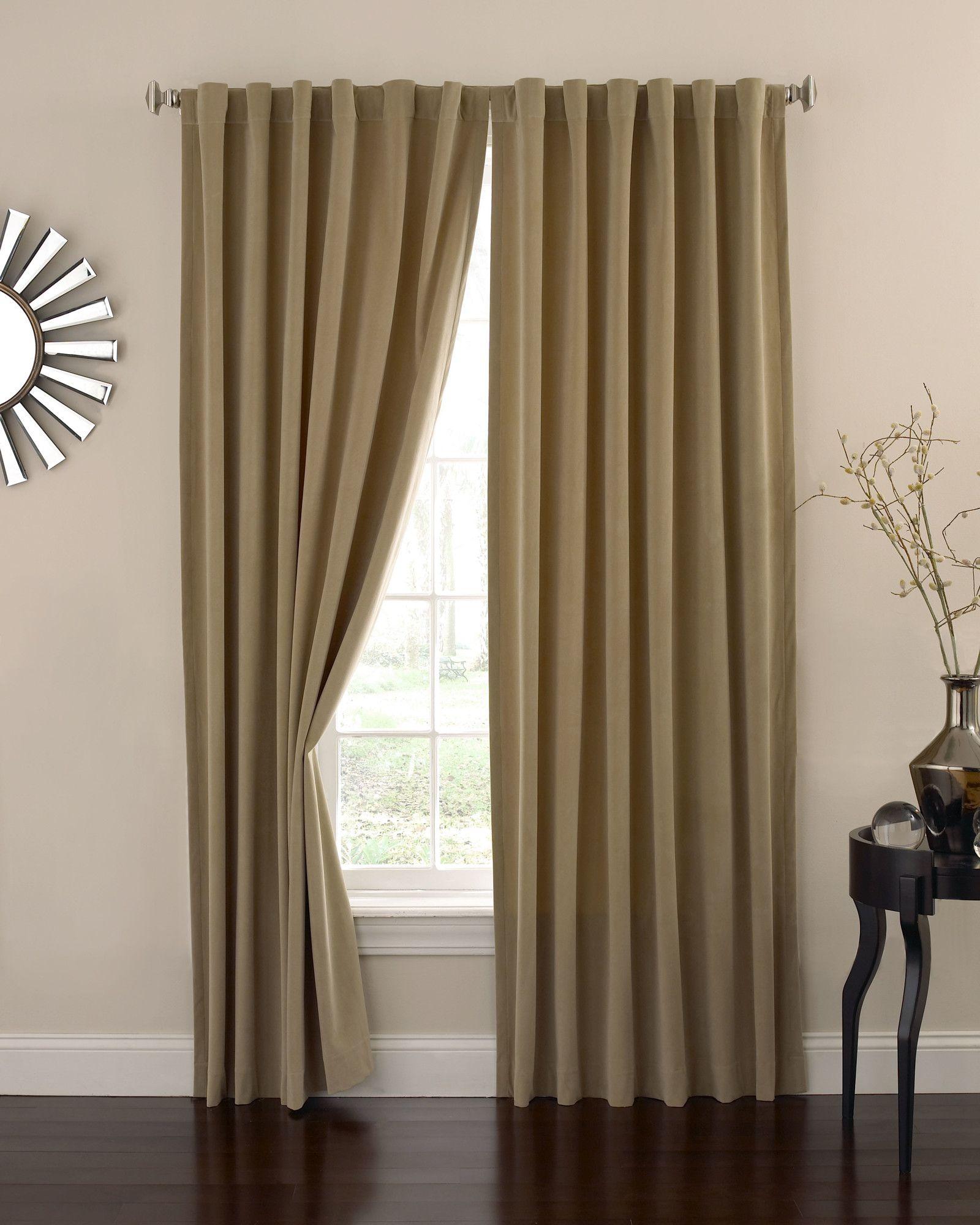 Thelma Solid Blackout Rod Pocket Single Curtain Panel