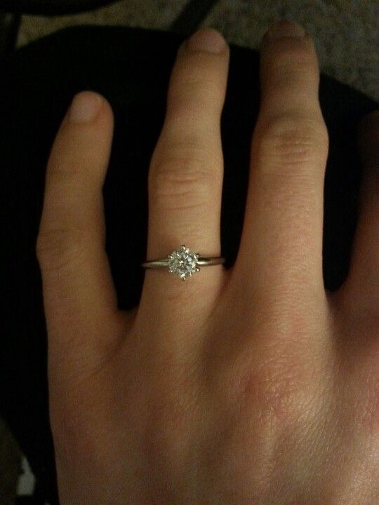 My 75 Carat Round Cut Solitaire Engagement Ring In 14k