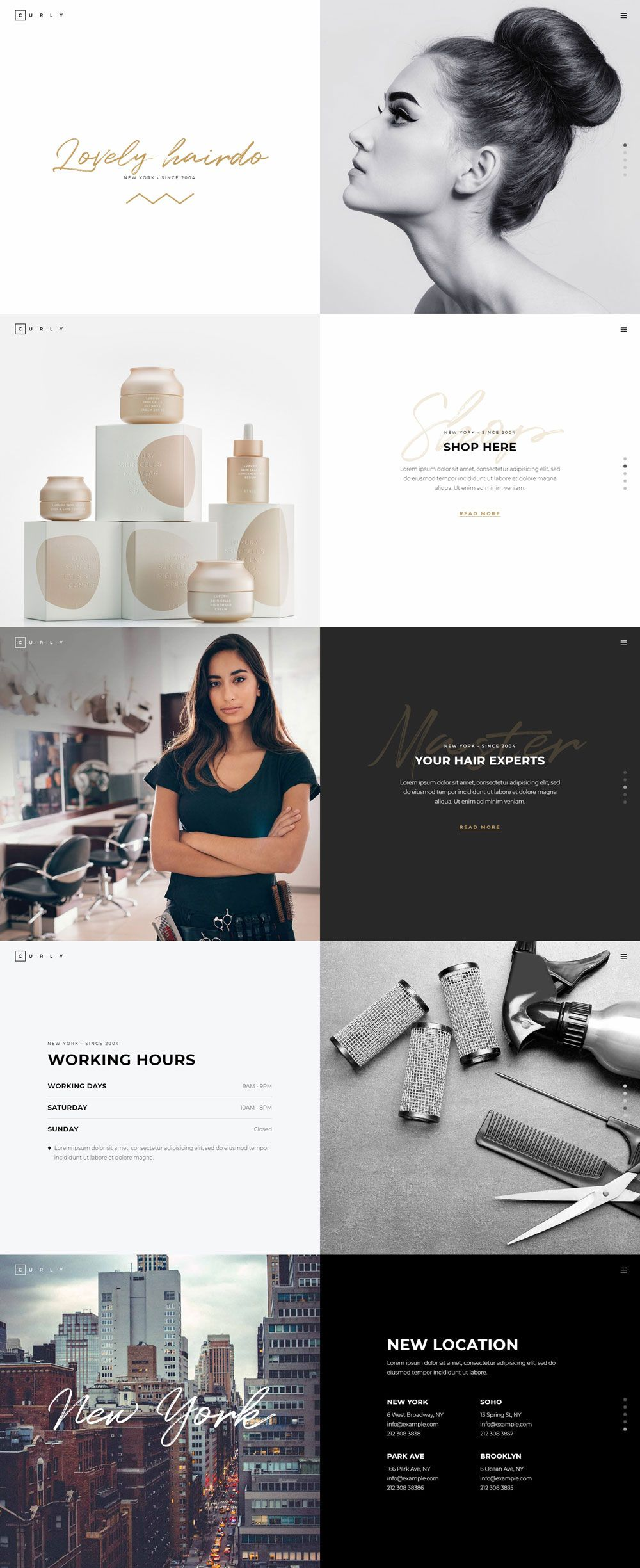 curly hairdressers and hair salons on landing pages pinterest rh pinterest com