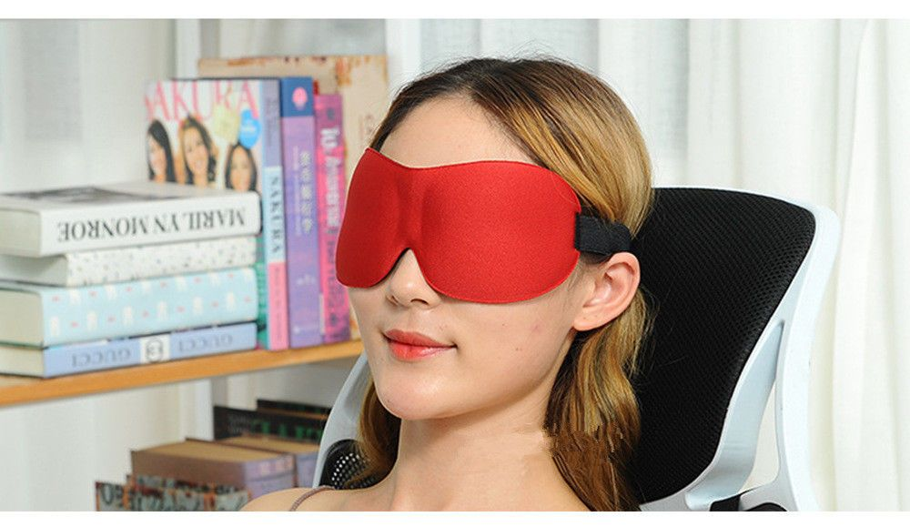 cf2e9069b9d 3D Eye Mask Sleep Soft Padded Shade Cover Rest Relax Sleeping Travel  Blindfold  fashion