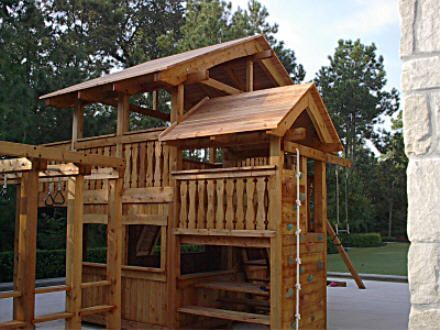 Timber frame playhouse google search woodworking projects custom swing set and playset designs from jacks backyard solutioingenieria Image collections