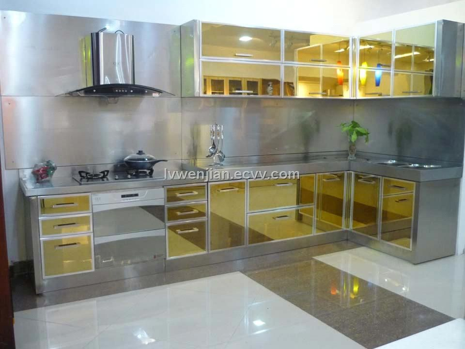 stainless steel kitchen doors kitchen cabinets amazing ...