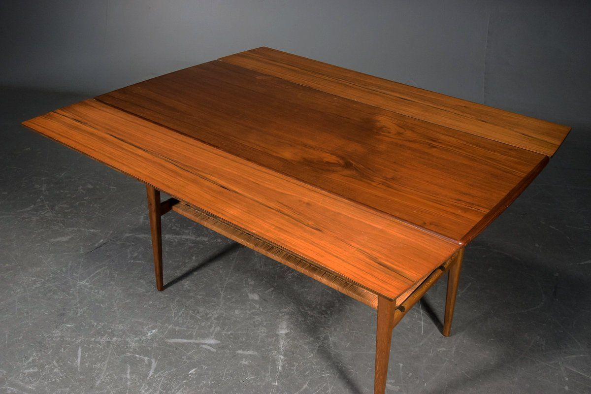 beautiful mid century teak sofa table liftable to dining table by scandinavianlove on etsy