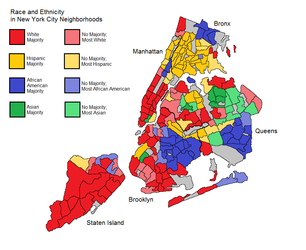 Race And Ethnicity In New York City Neighborhoods New York Racial City