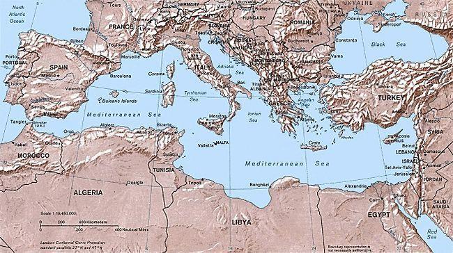 kart europa middelhavet Kart over Middelhavet | Mediterranean | Pinterest kart europa middelhavet