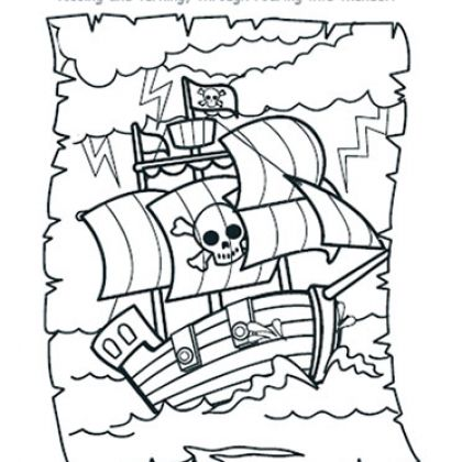 Pirate Ship Coloring Page Printables Spoonful Piratas Dibujos Patrones