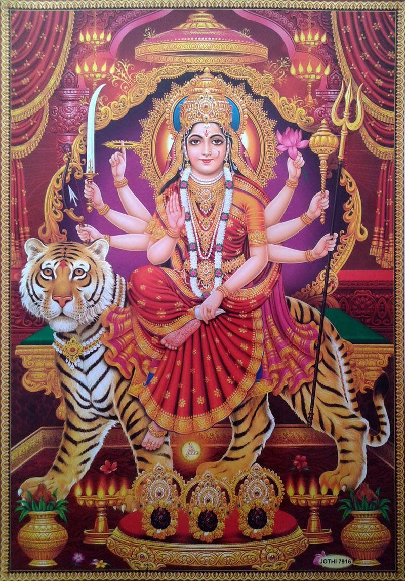 Durga Maa Print Paper Poster Big Size 20 X28 6 99 Durga Maa