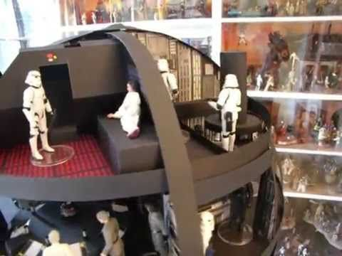 Custom Star Wars Death Star Diorama with Kenner Action Figures Clone Vin...