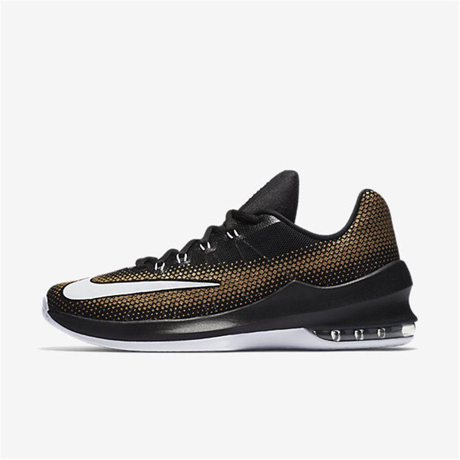 4c4eab40a42acd Nike Air Max Infuriate Low (Black   Metallic Gold   White)