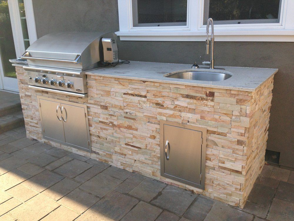 Image result for portable grill with stone facade