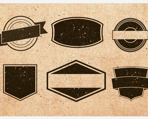 Vintage Badge Templates Brushes Vectors And Textures