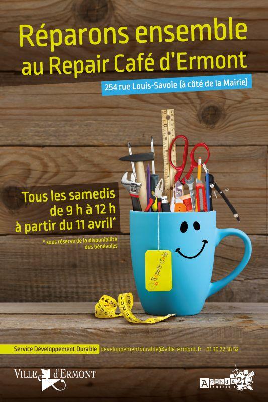 Repair Café d'Ermont : lieu de convivialité où l'on peut apprendre à réparer des objets auprès de bénévoles.