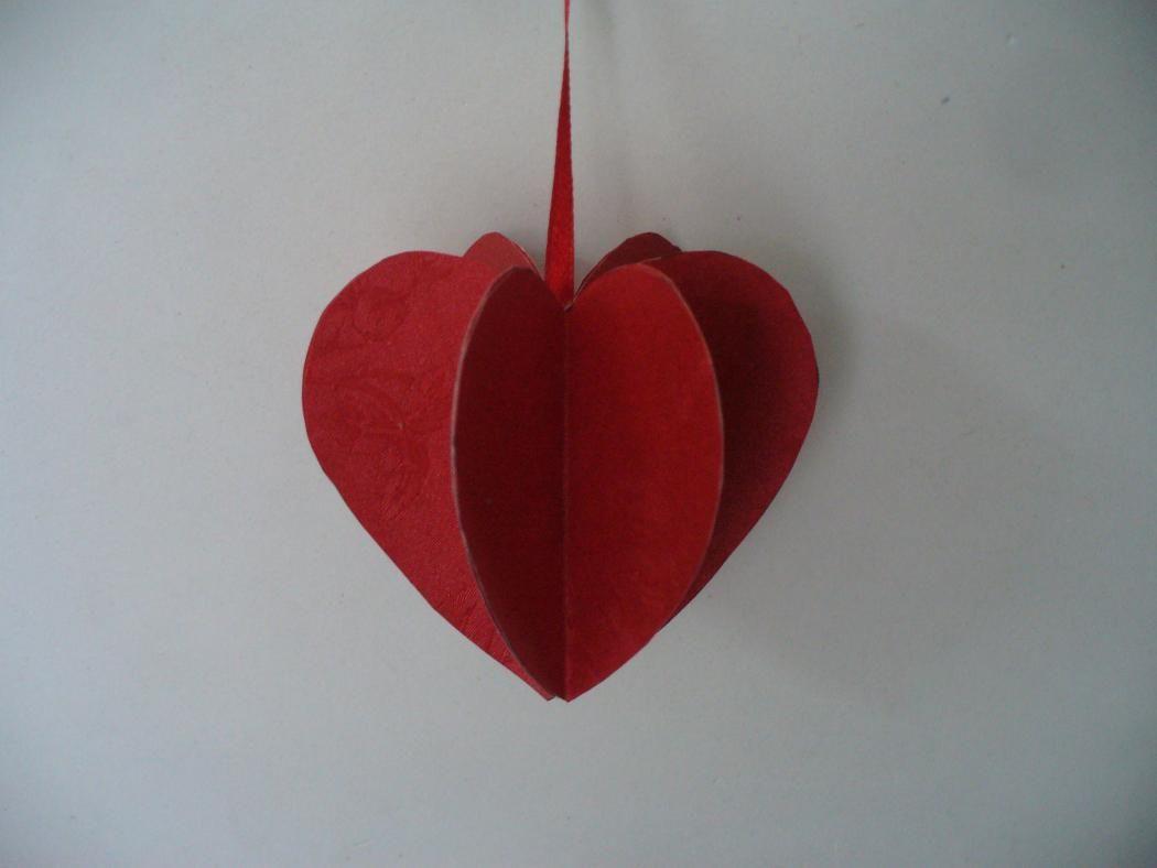 diy valentine paper heart ornament valentines day crafts rh pinterest com