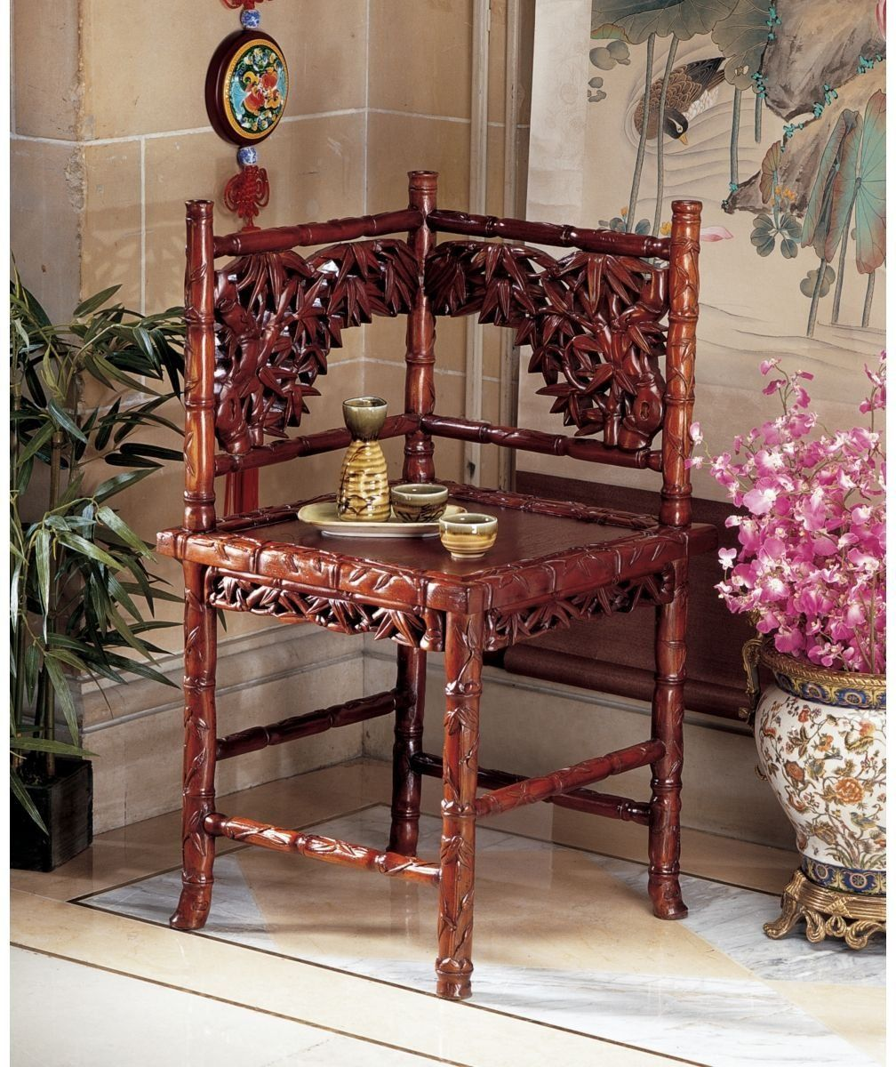 Antique Looking Furniture Cheap: Victorian Handcarved Antique Replica Mahogany Side Corner