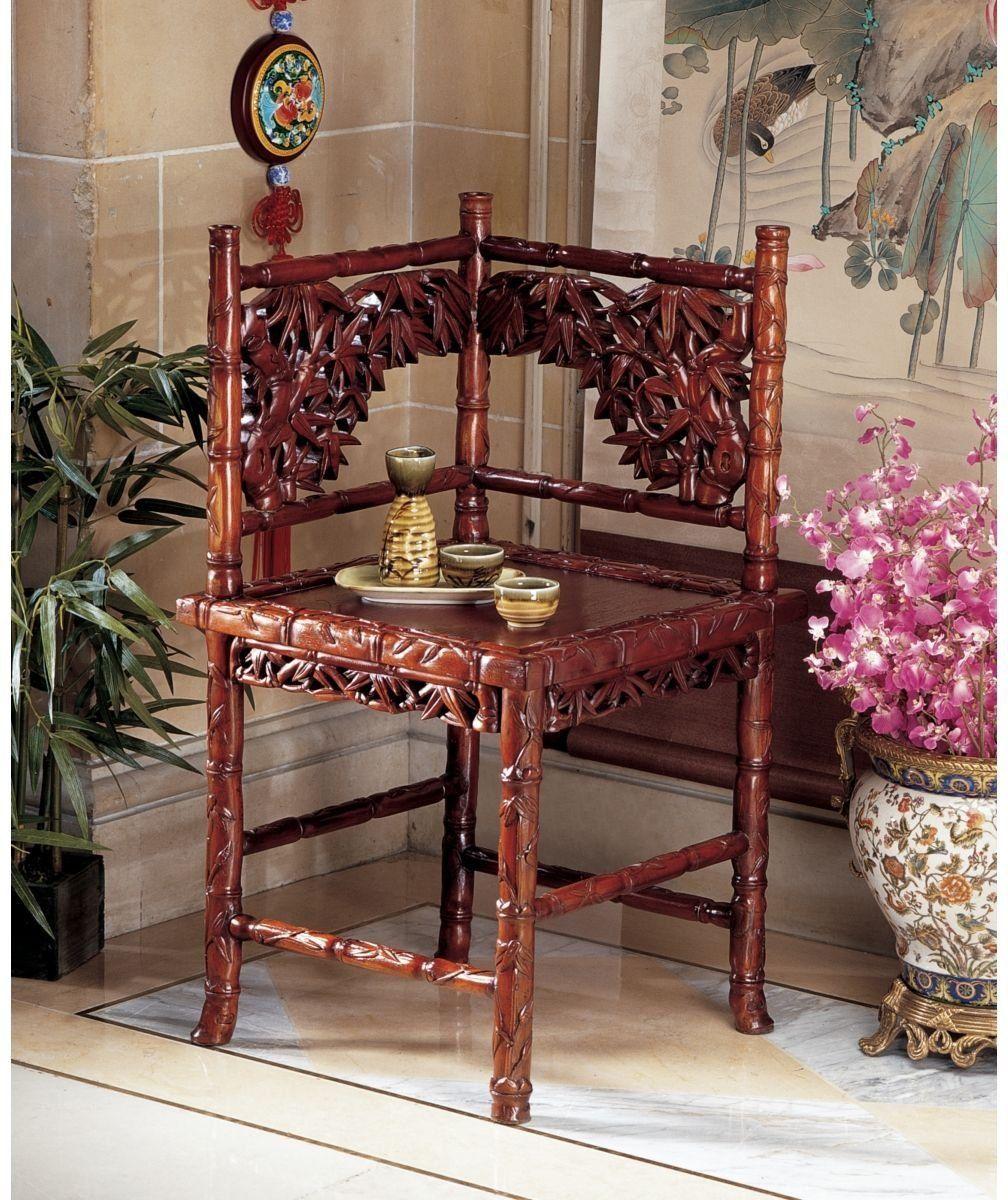 Inexpensive Vintage Furniture: Victorian Handcarved Antique Replica Mahogany Side Corner