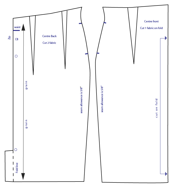high waisted pencil skirt pattern how to draft from